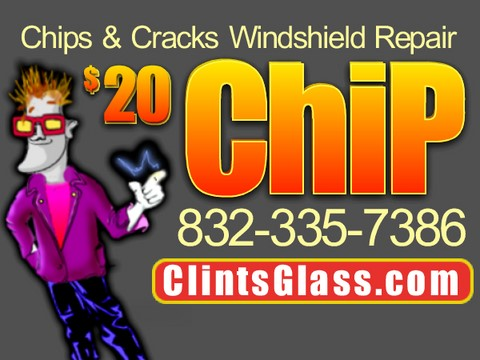 $20 Windshield Rock Chip & Crack Repair in Houston, Texas on Windshield Houston